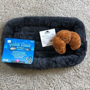 Other - Dog bed with dog toy